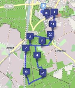 Die 10,5-km-Strecke von Scharnebeck.